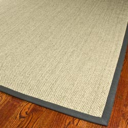 Hand-woven Resorts Natural/ Grey Fine Sisal Rug (3' x 5')