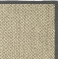 Hand-woven Resorts Natural/ Grey Fine Sisal Rug (4' x 6')