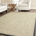 Safavieh Hand-woven Resorts Natural/ Grey Fine Sisal Rug (9' x 12')