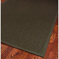 Hand-woven Resorts Brown Fine Sisal Rug (6' x 9')