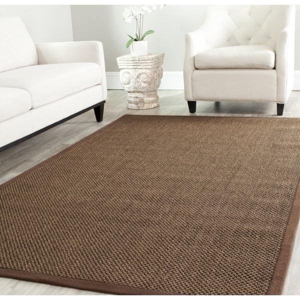 Safavieh Hand-woven Resorts Brown Fine Sisal Rug (6' x 9')