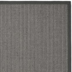 Hand-woven Natural Fiber Uni Grey Fine Sisal Runner (2'6 x 8')