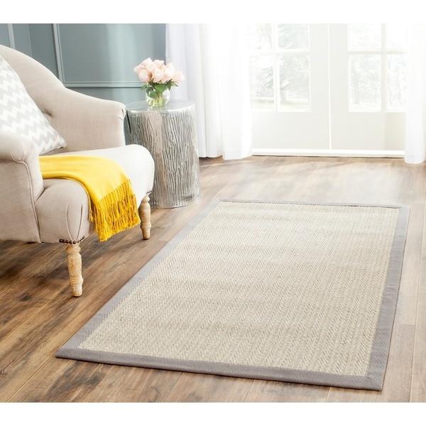 Safavieh Hand-woven Natural Fiber Uni Grey Fine Sisal Rug (4' x 6')