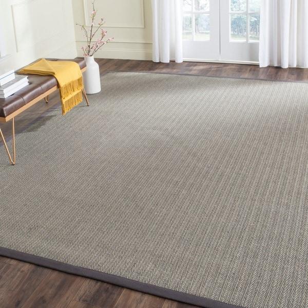 Safavieh Hand-woven Natural Fiber Uni Grey Fine Sisal Rug (6' x 9')
