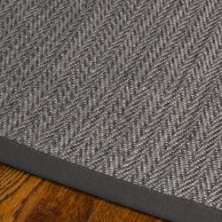 Hand-woven Natural Fiber Uni Grey Fine Sisal Rug (8' x 10')