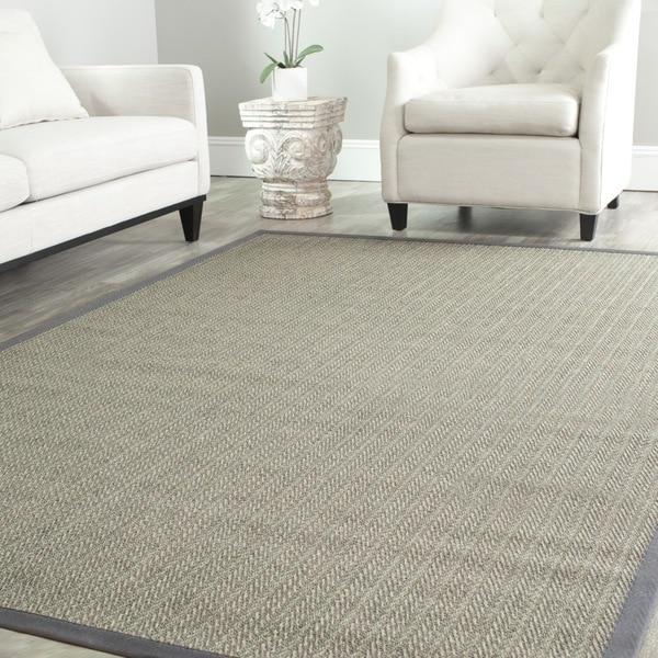 Safavieh Hand-woven Natural Fiber Uni Grey Fine Sisal Rug (8' x 10')