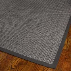 Hand-woven Natural Fiber Uni Grey Fine Sisal Rug (9' x 12')
