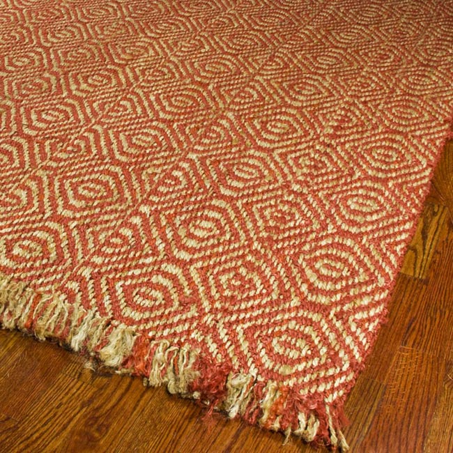 Safavieh Hand-woven Arts Natural/ Rust Fine Sisal Rug (8' x 10')