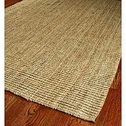 Hand-woven Weaves Natural-colored Fine Sisal Rug (4' x 6')
