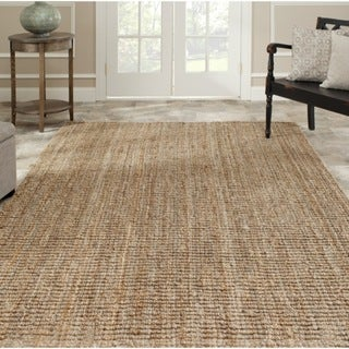 Hand-woven Weaves Natural-colored Jute Rug (4' x 6')