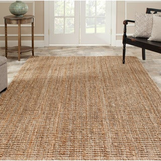 Hand-woven Weaves Natural-colored Fine Jute Rug (8' x 10')