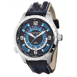 Akribos Men's XXIV 'Globetrotter' World Timer Quartz Watch