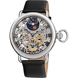 Akribos XXIV Men's Dual Time Mechanical Watch