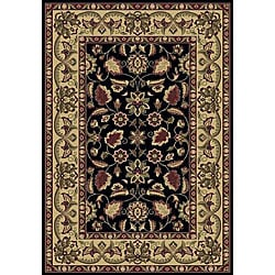 Anoosha Persian Garden Black Rug (7'10 x 10'10)