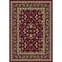 Anoosha Isfahan Red Rug (7'10 x 10'10)