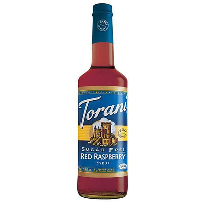 Torani Dairy Friendly Sugar Free Red Raspeberry Syrup 750ML (Pack of 12)