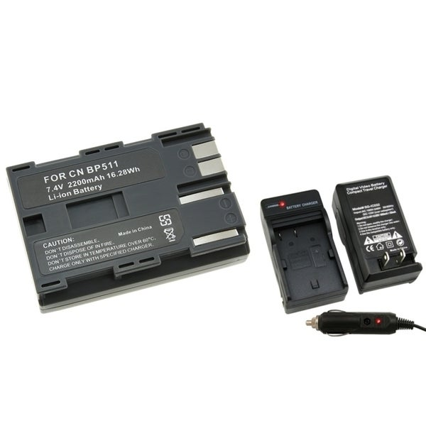 INSTEN Camera Battery and Charger for Canon Rebel EOS/ 20D/ 30D/ 40D/ D60/ G5