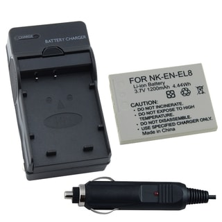 INSTEN Nikon S3/ S5/ S6/ P2/ P1 EN-EL8 Coolpix Battery and Charger