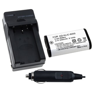 Camera Battery a Charger for Kodak KLIC-8000