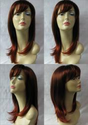 Merrylight Premium Quality Deep Auburn/ Copper Red Wig with Cap