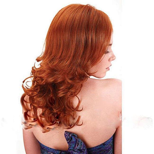 Merrylight Premium Quality Medium Red/ Light Auburn Wig with Cap