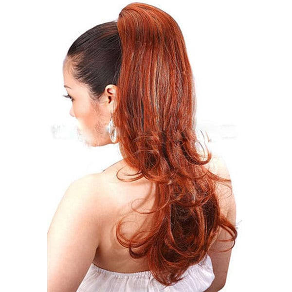 Merrylight Medium Blonde/ Strawberry Blonde Curly Ponytail