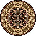 Anoosha 'Persian Garden' Black Rug (5'3 Round)