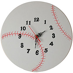 Baseball Design Wall Clock