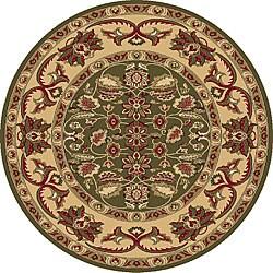Anoosh-Persian Green Garden Design Rug (5'3 Round)