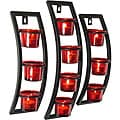 Curved Frame Red Glass Sconce Set