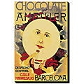 'Chocolate Amatller: Barcelona (Moon)' Giclee Canvas Art
