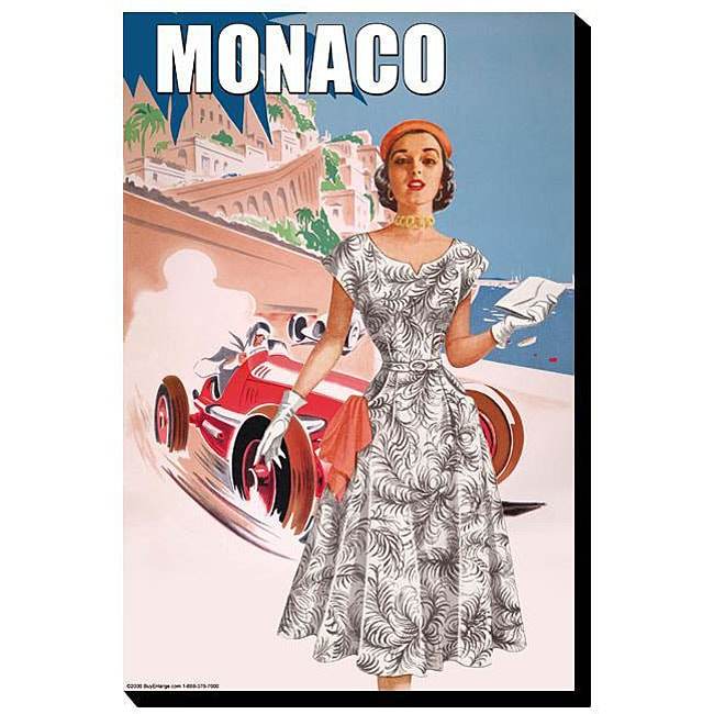 Overstock.com S. Pierce '50's Women's Retro Fashion - Monaco' Giclee Canvas Art at Sears.com