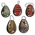 Set of 5 Ceramic 'Christmas Ocarinas' Ornaments (Peru)