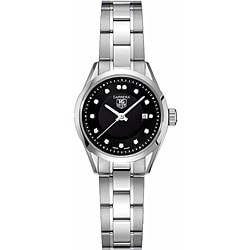 Tag Heuer Women's WV1410.BA0793 Carrera Stainless Steel Diamond Black Watch