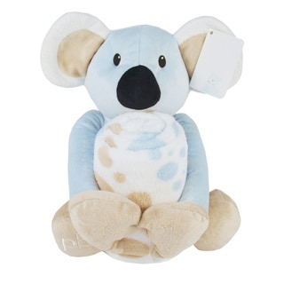 Piccolo Bambino Coral Blanket with Big Toy Blue Koala
