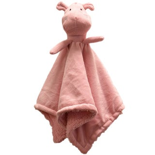 Piccolo Bambino Pink Hippo Cuddly Pal with Soft Blanket Body
