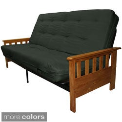 Providence Queen Mission-style Frame/Twill Splendor Mattress Futon Set