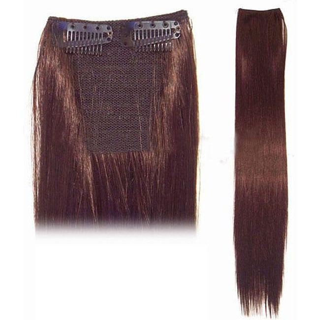 Merrylight 3-inch Burgundy Straight Hair Extension