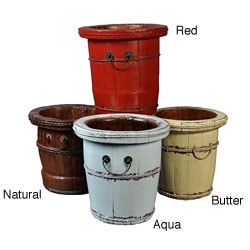 Chinese-inspired Wooden Bucket