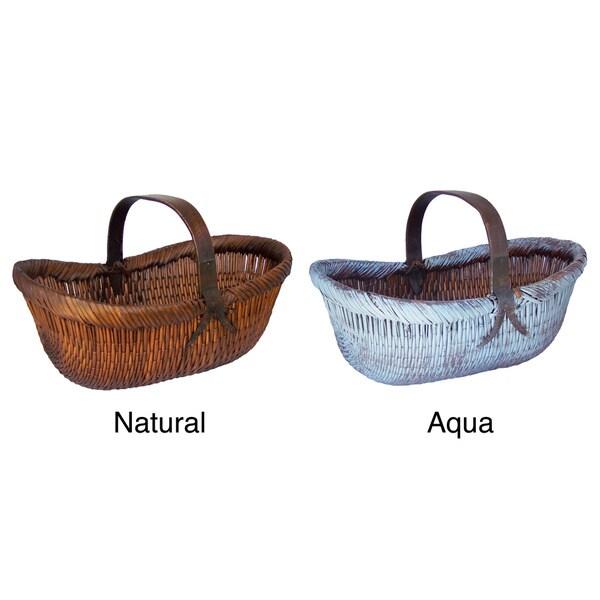 Oval Shape Vintage Basket