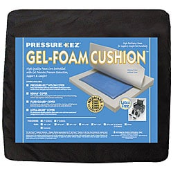 Hudson Pressure Eez Gel/ Foam 18 x 16 x 2 inch Wheelchair Seat Cushion