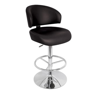 Regent Black Adjustable Bar Stool