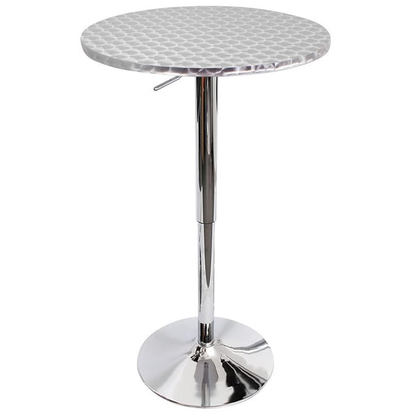 Bistro Polished Chrome Bar Table 12354142 Overstock