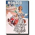 Women's Retro Fashion 1950's 'Monaco' Giclee Canvas Art