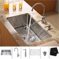 Kraus Kitchen Combo Set Stainless Steel 30 -inch Undermount Sink /Faucet