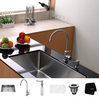 Kraus Kitchen Combo Set Stainless Steel 32 -inch Undermount Sink /Faucet