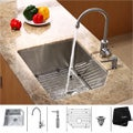 Kraus Commercial-Grade Stainless-Steel Undermount Kitchen Sink, Faucet and Dispenser