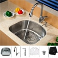 Kraus Satin-Finished Stainless-Steel Undermount Kitchen Sink, Faucet and Dispenser