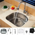 Kraus Stainless Steel Undermount Sink/ Faucet and Dispenser