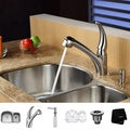 Kraus Stain-Resistant Stainless-Steel Undermount Kitchen Sink, Faucet and Dispenser
